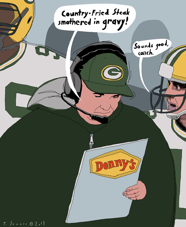 Mike McCarthy,Packers,denny's