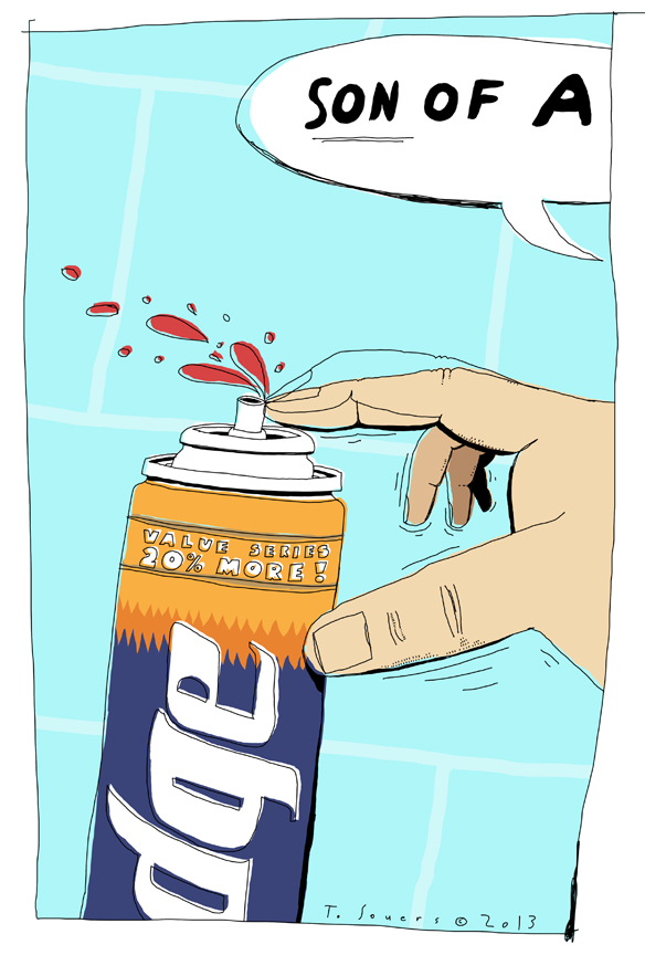 Edge.shaving gel.cartoon