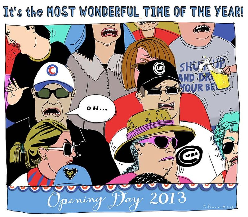 Chicago Cubs, cartoon