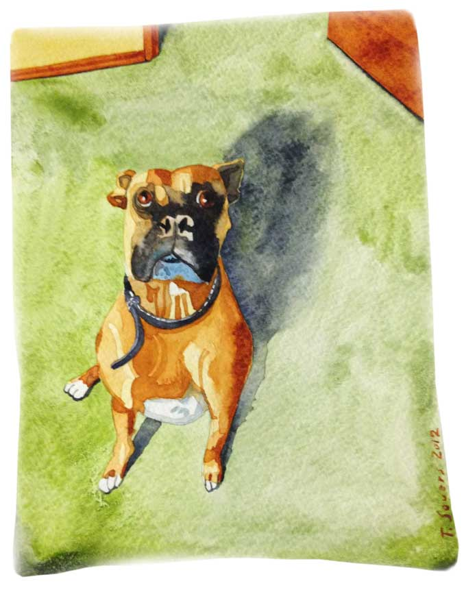 Dog,boxer,painting