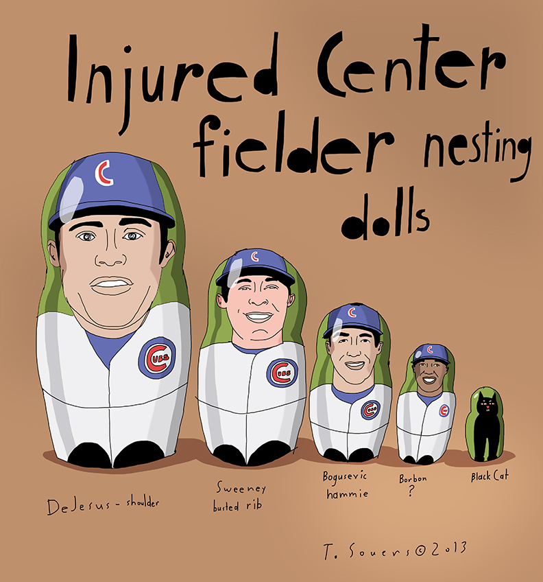 Cubs russian nesting dolls
