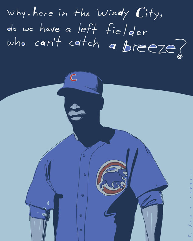 Alfonso soriano, can't catch a breeze, cartoon