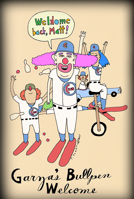 Cubs Clown Bullpen