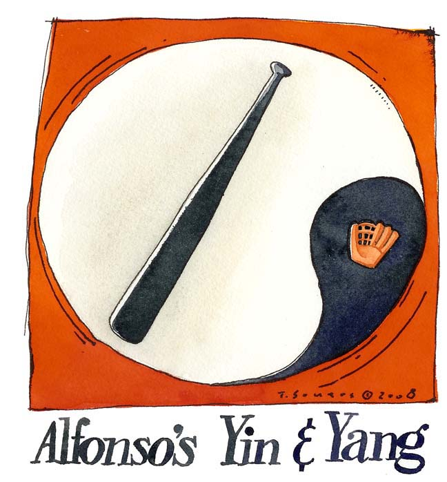 Alfonso soriano, bat vs glove