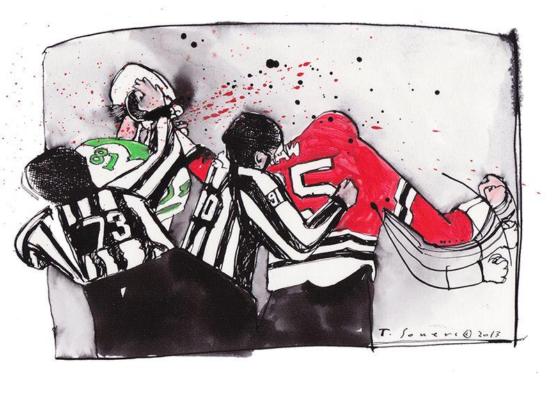 promo code 8f1ca 15800 Andrew Shaw fights like the Tasmanian Devil. (illustration ...