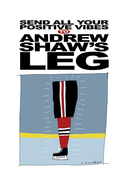 Andrew Shaw's Leg
