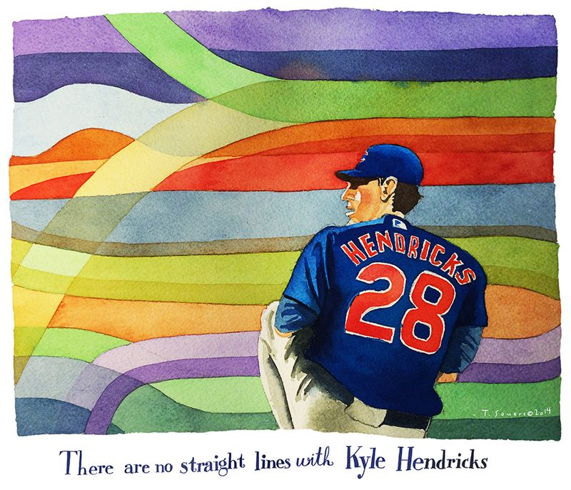 Kyle Hendricks, Cubs, nothing goes straight