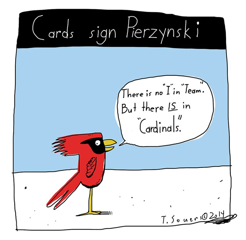 Cards sign Pierzynsky