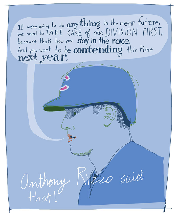 Anthony Rizzo quote, sportsart