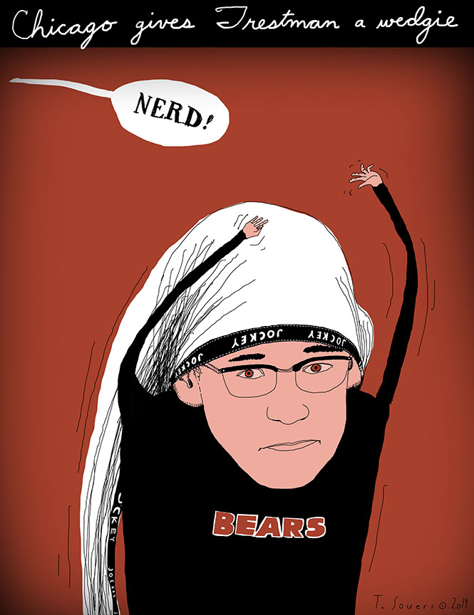 Chicago gives Trestman a wedgie