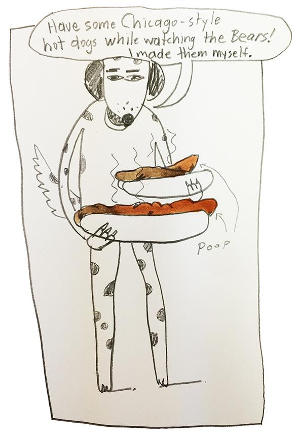 Poop hot dogs