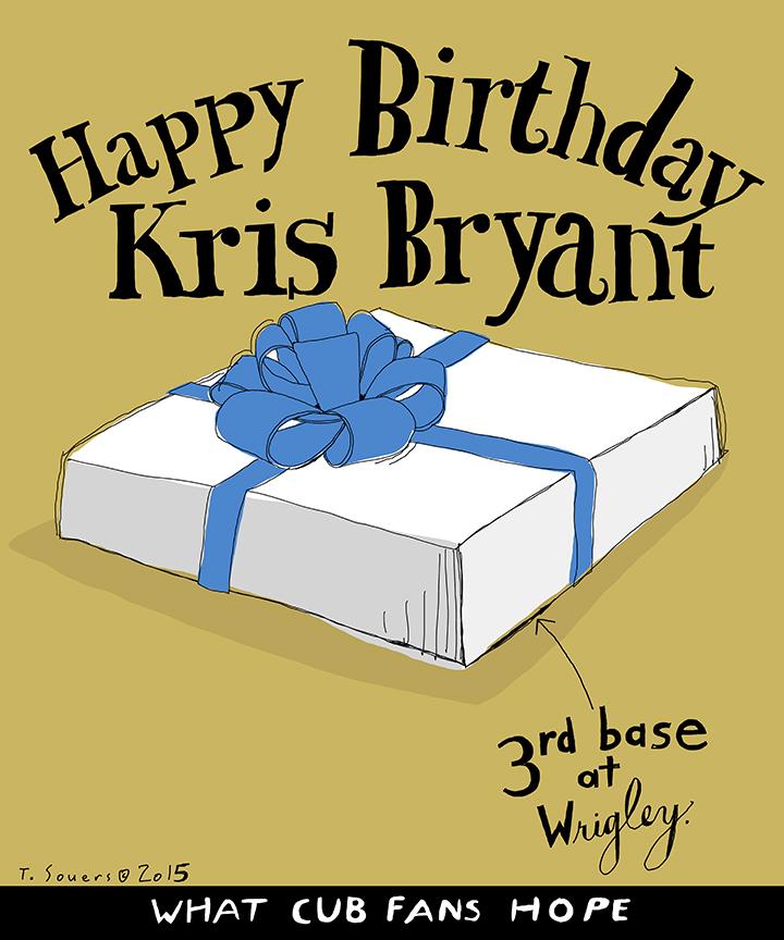 Kris Bryant's Birthday Gift