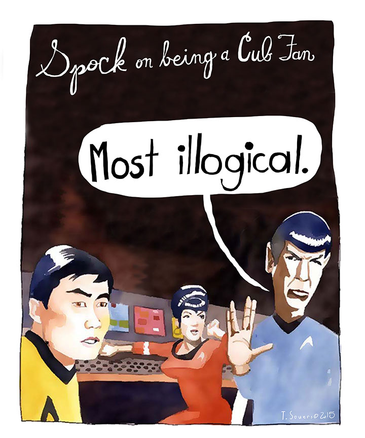 Spock on being a Cubs Fan