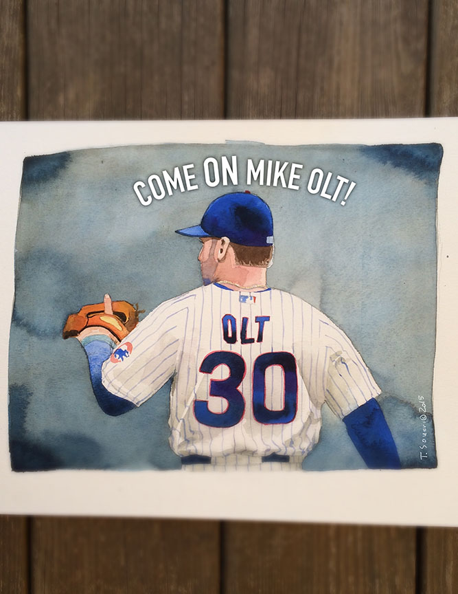 Mike Old, Cubs, illustration