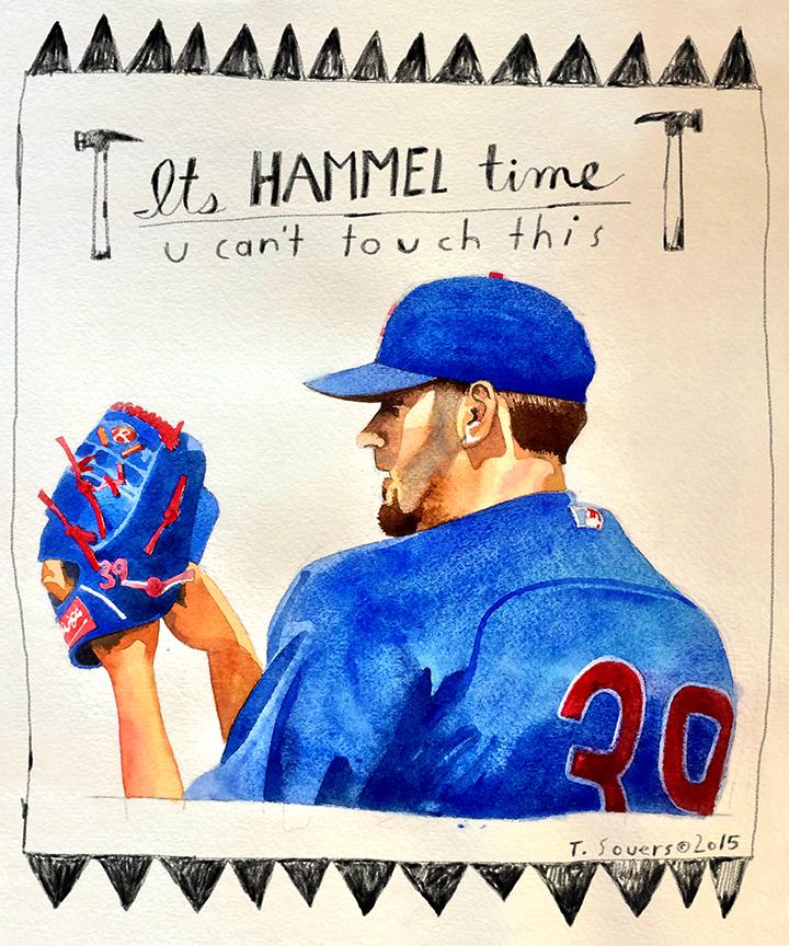 Cubs portrait series, Jason Hammel