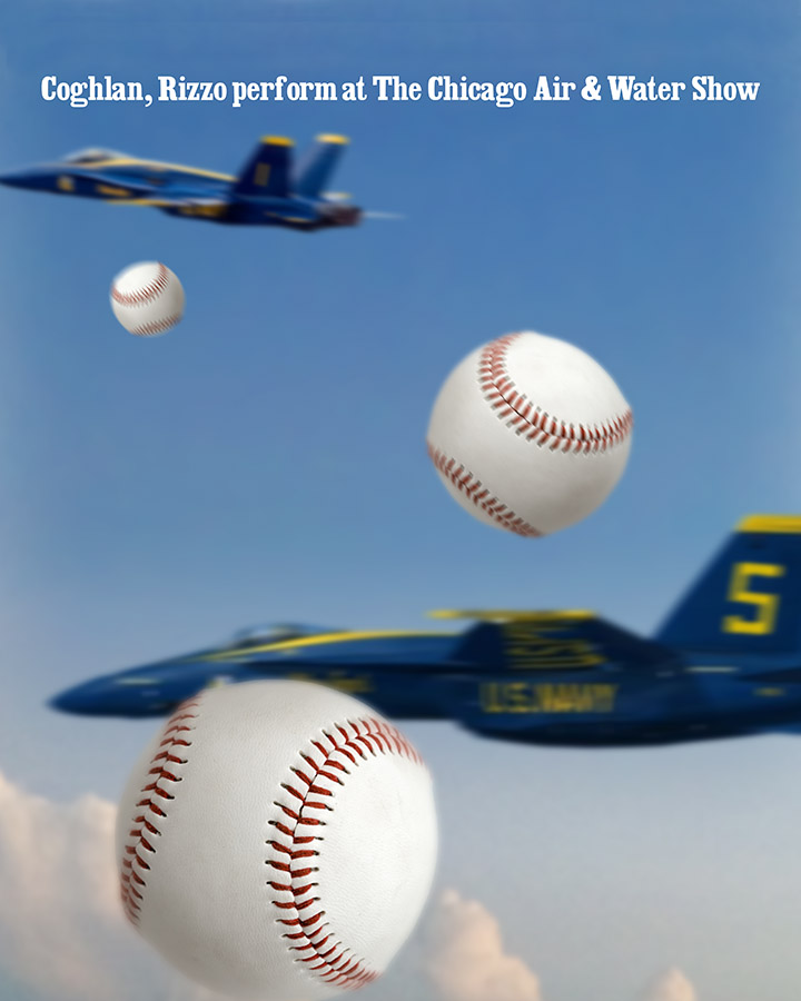 #Cubs Coghlan, Rizzo perform at Chicago Air Show