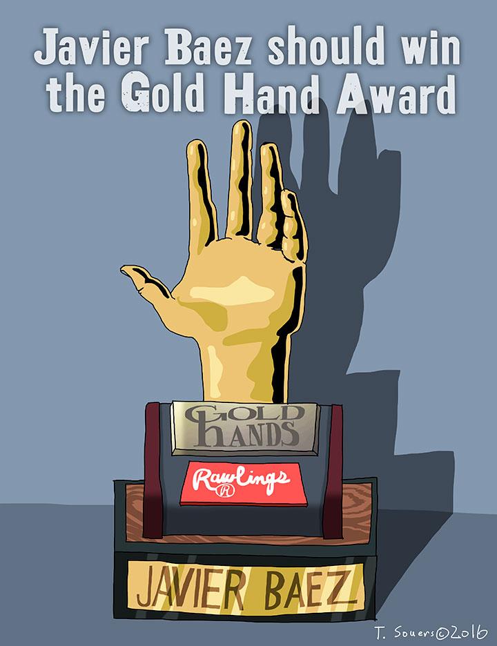Javier-Baez-Gold-Hand-Award