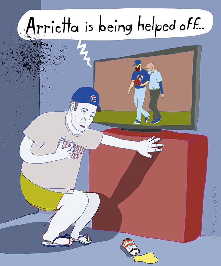 Arrieta-Helped-off-the-diamond