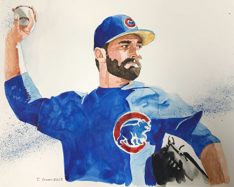 Tyler chatwood  cubs  illustration