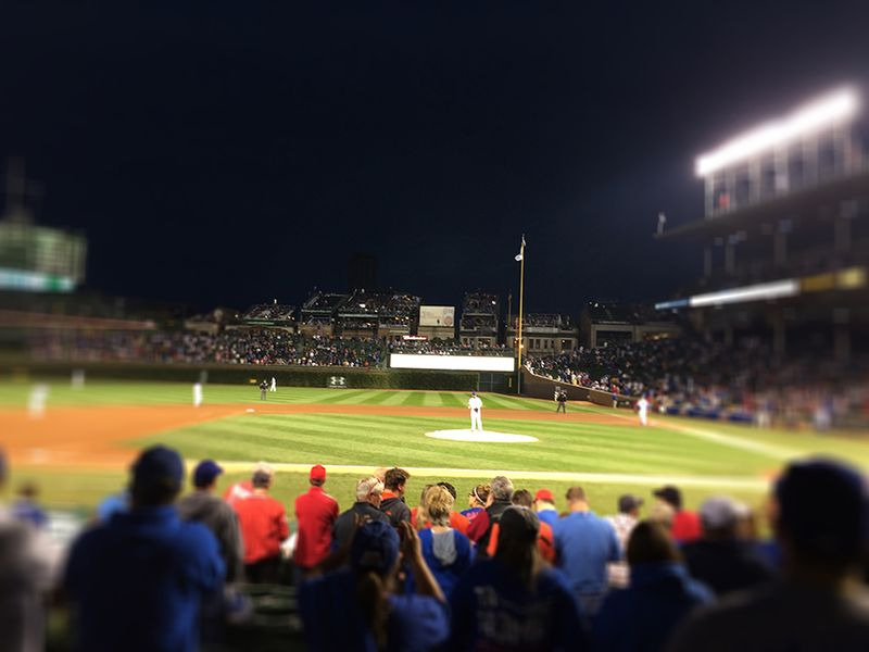 Arrieta on the mound at Wrigley Field