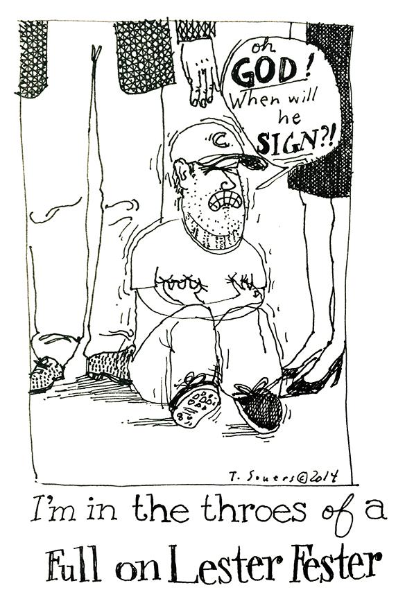 Jon Lester signing panic attack
