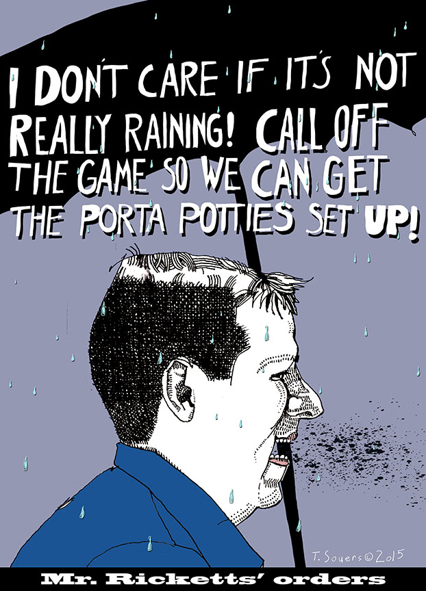 Tom Ricketts, rainout