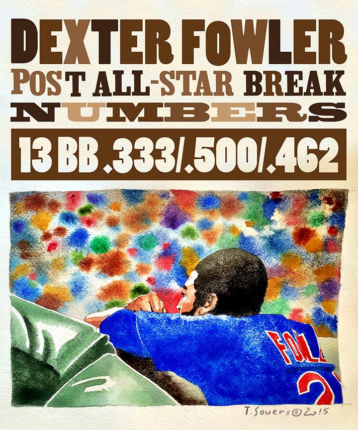 Dexter Fowler Cubs Portrait Series