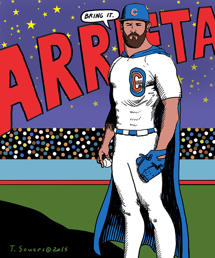 Jake Arrieta Superman, Cubs