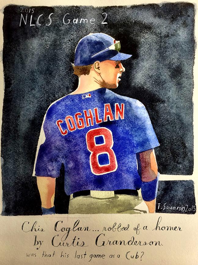 Cubs Portrait Series. Chris Coghlan