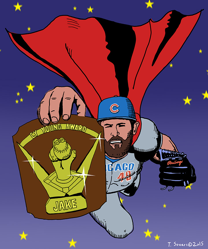 Jake Arrieta Superman wins Cy Young