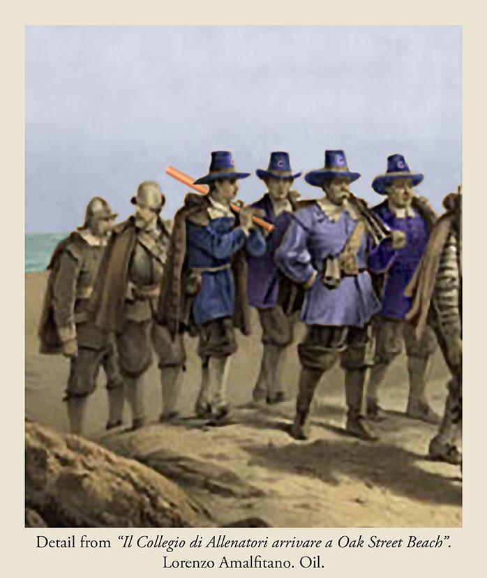College-of-pilgrims-arrive-at-Oak-Street-Beach