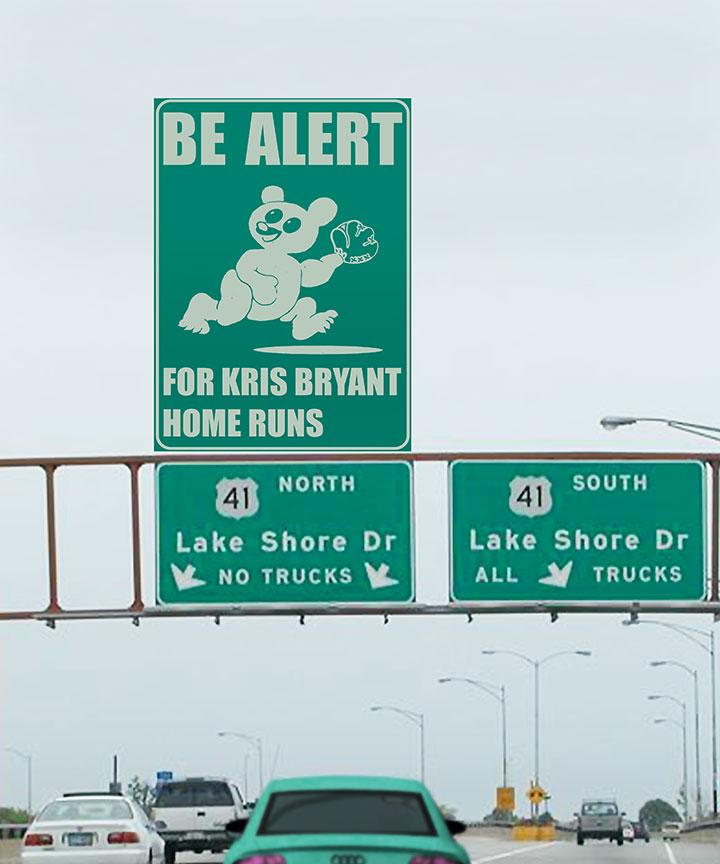 Be-Alert-sign,-Wrigley-Field