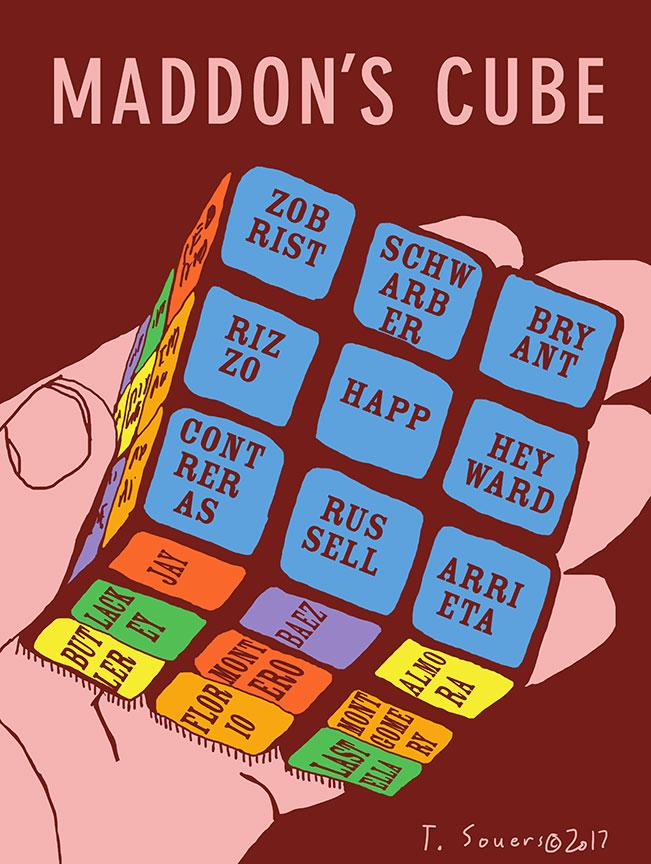 Joe-Maddon's-Rubik's-Cube-Lineup