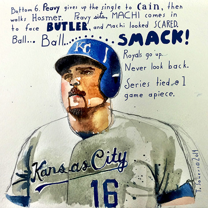 Billy butler, world series illustration
