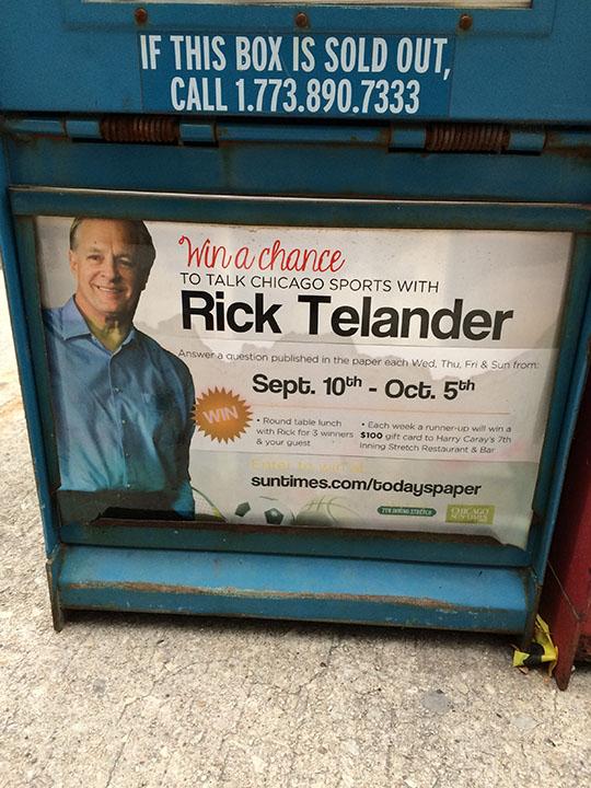 Rick Telander promotion