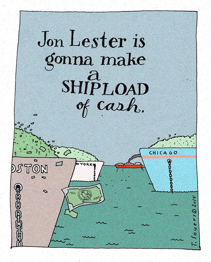 Jon Lester is gonna make a shipload of cash