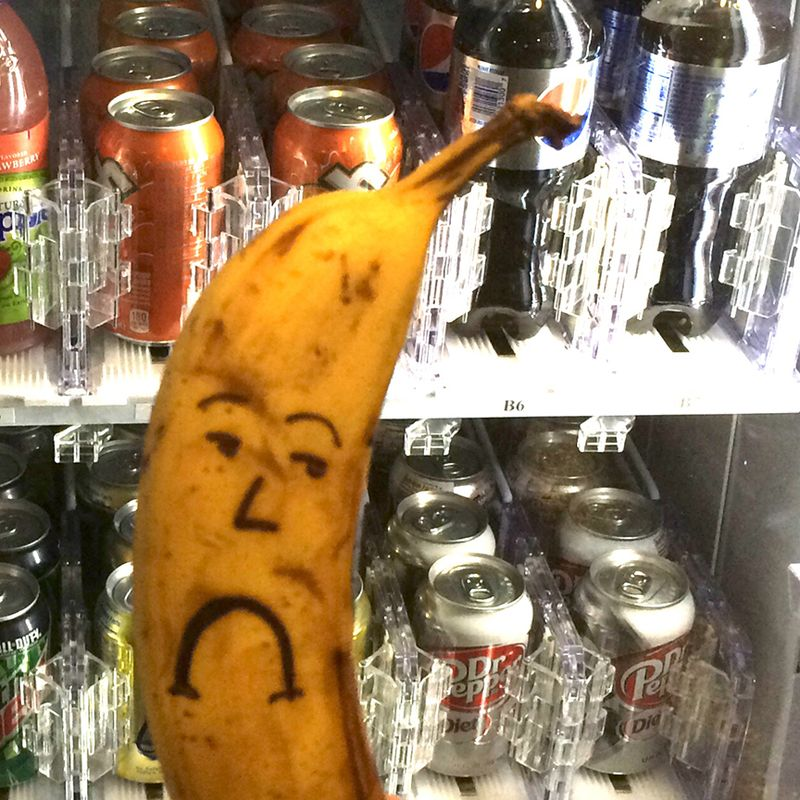 Sad Banana can't have a Diet Dr. Pepper