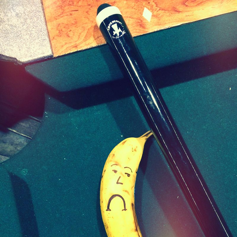 Sad Banana can't play pool