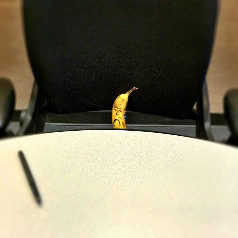 Sad Banana can't chair a meeting