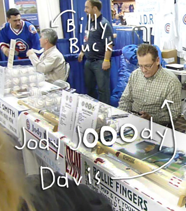 Cubs convention 2012 billy buckner jody davis