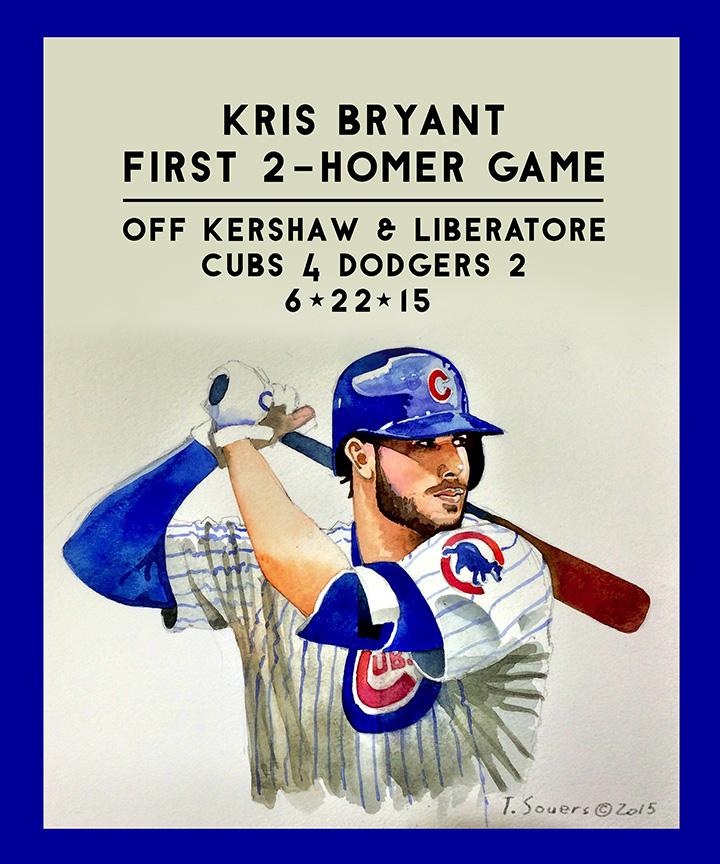 Kris Bryant's 1st 2-homer game