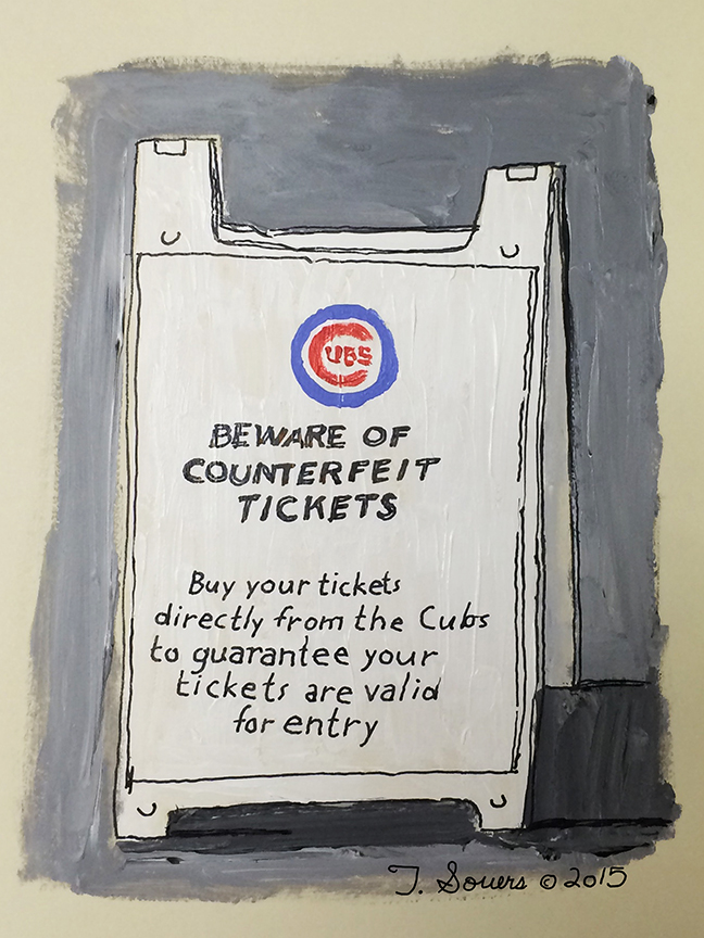 Beware of counterfiet tickets