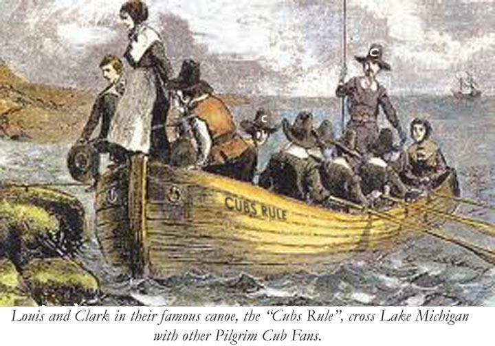 The Cubs Rule canoe