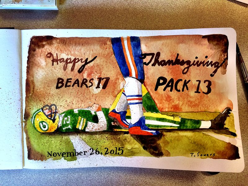 Bears 17 Packers 13 Happy Thanksgiving