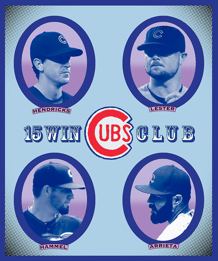 Cubs-four-15-game-winners