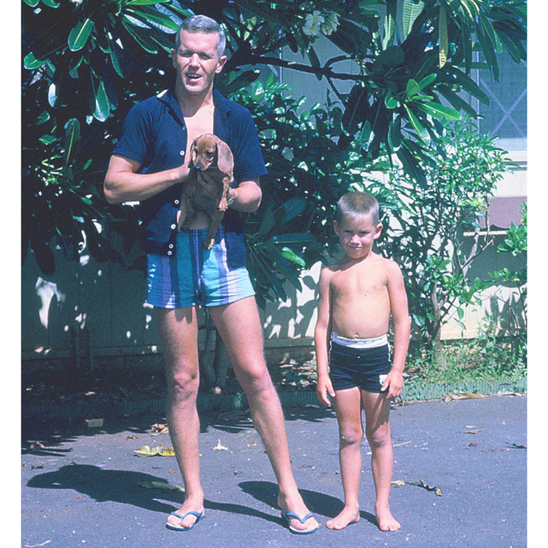 Dad -flip-flops -Hawaii -'60s
