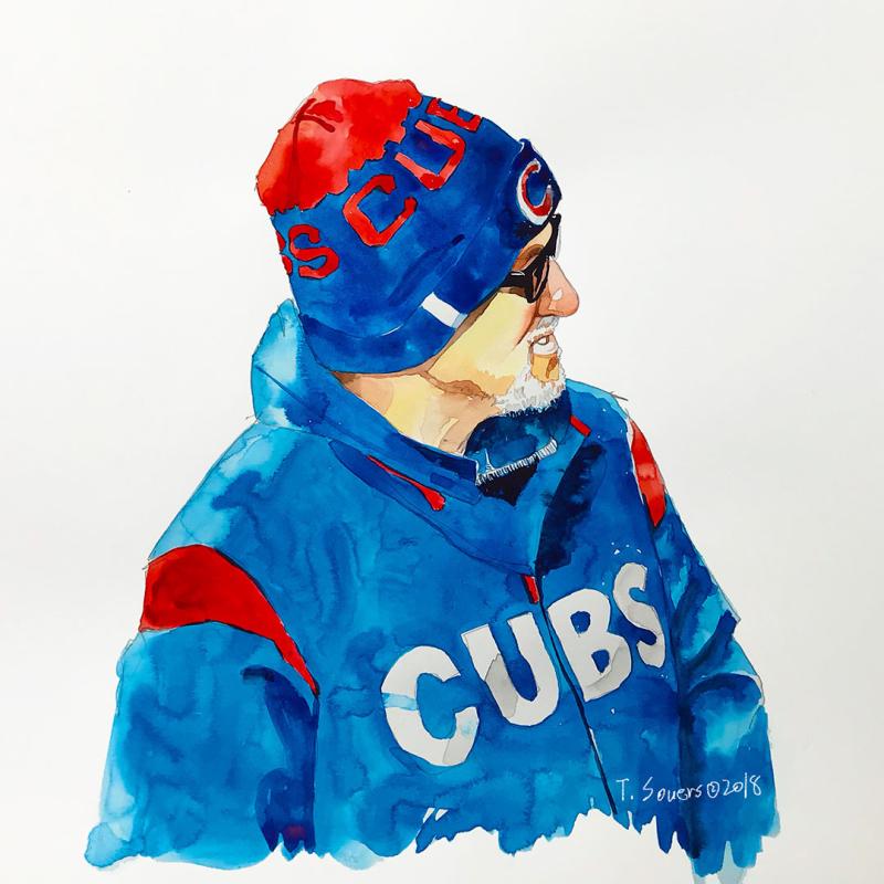 Joe-Maddon-Winter-Jacket-Painting