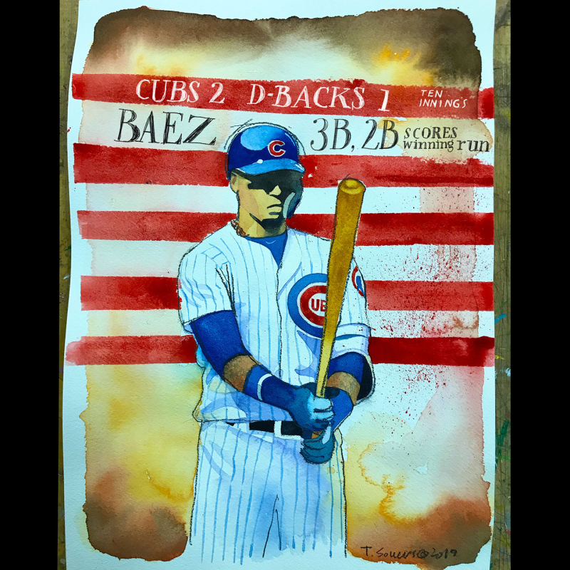 Javier-Baez -El-Mago -Cubs -double -triple