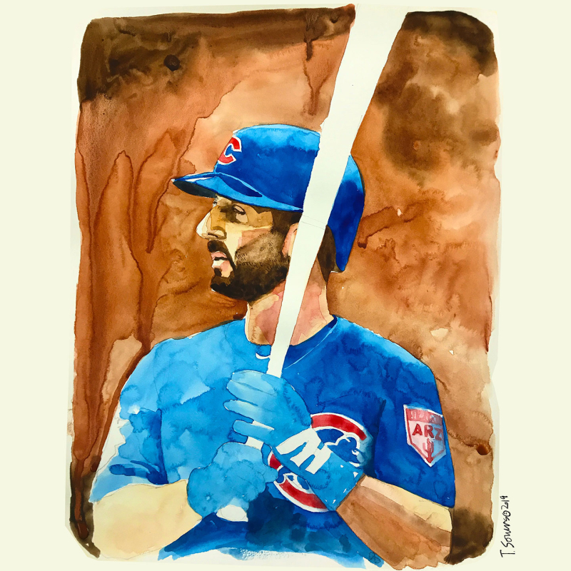 Daniel-Descalso Cubs image illustration watercolor