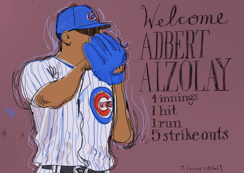Adbert-Alzolay-Debut-#Cubs